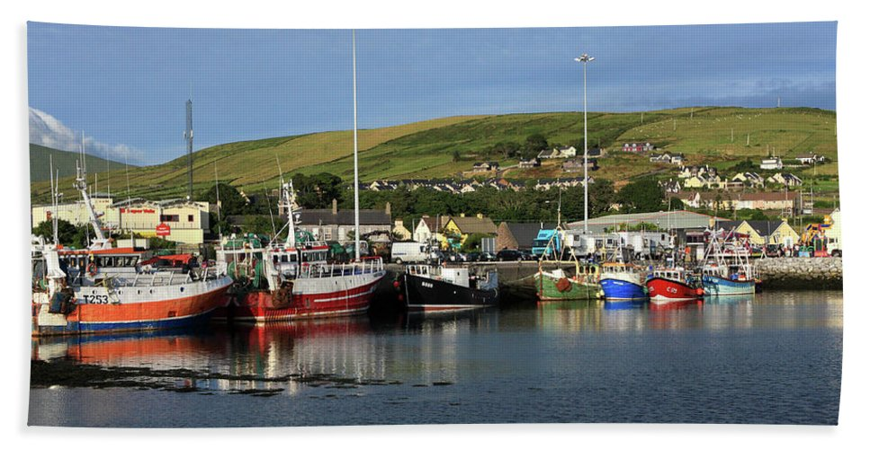 Ireland Hand Towel featuring the photograph Fishing Fleet At Dingle, County Kerry, Ireland by Aidan Moran