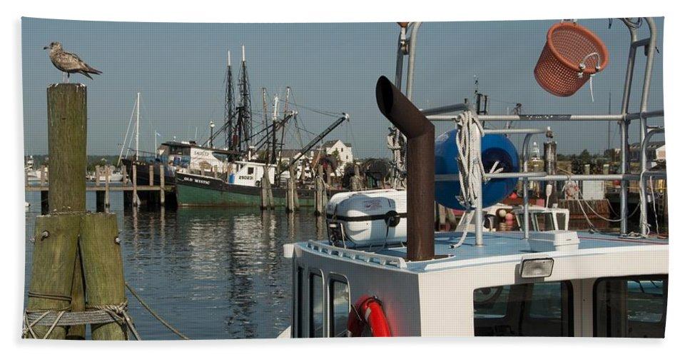 Long Bath Sheet featuring the photograph Fishing Fleet by Steven Natanson