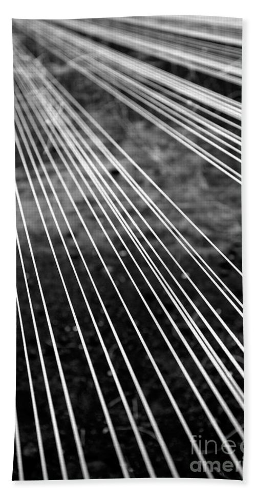 Abstract Bath Sheet featuring the photograph Fishing Lines by Gaspar Avila
