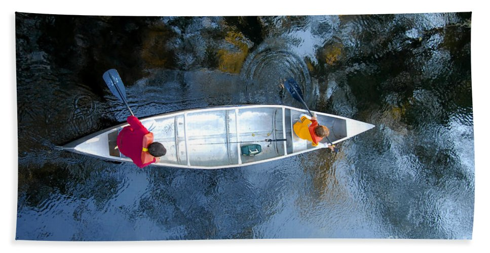 Father Bath Towel featuring the photograph Fishing Trip by David Lee Thompson