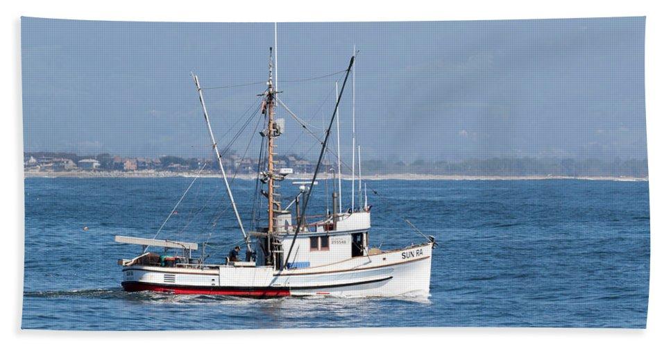 Fishing Hand Towel featuring the photograph Fishing Vessel Sun Ra by Deana Glenz