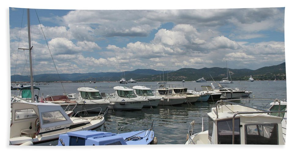 Fishingsboats Bath Sheet featuring the photograph Fishingboats by Christiane Schulze Art And Photography