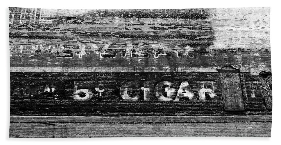 Cigar Bath Sheet featuring the photograph Five Cent Cigar by David Lee Thompson