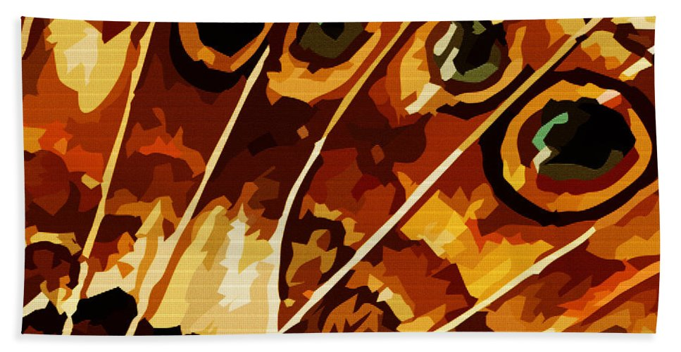 Butterfly Hand Towel featuring the digital art Five Eyes by Max Steinwald