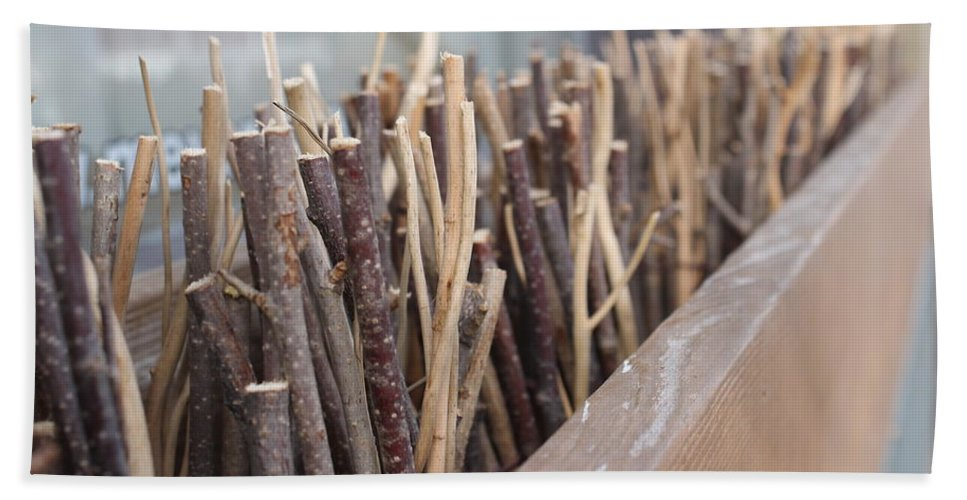 Sticks Bath Sheet featuring the photograph Five, Six Pick Up Sticks by Wade Milne