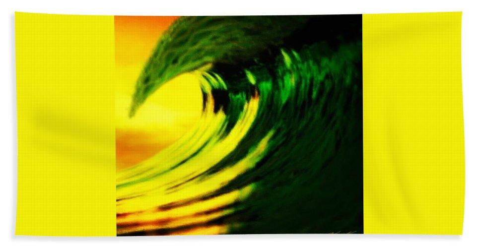 Surf Bath Sheet featuring the digital art Fl O J by Keith Kos