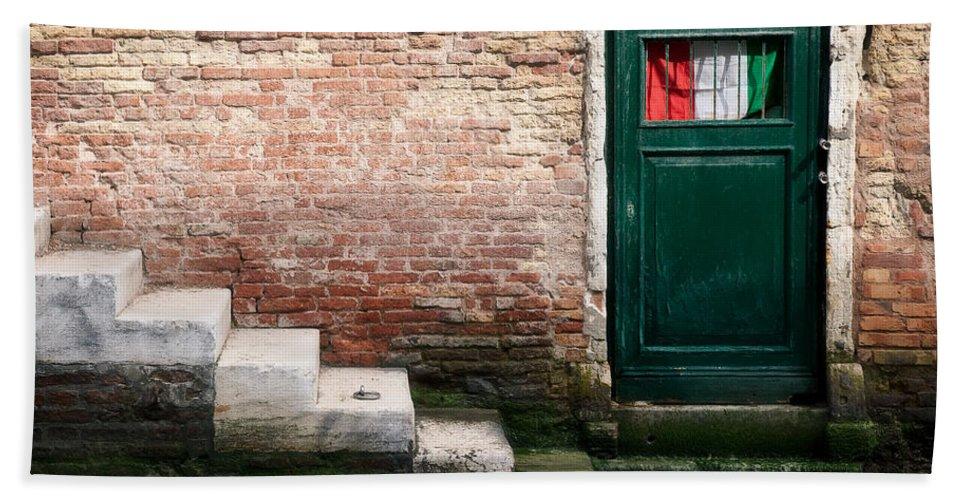 Venice Bath Sheet featuring the photograph Flag by Dave Bowman