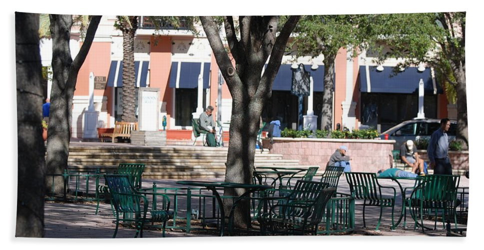 Park Hand Towel featuring the photograph Flagler Park by Rob Hans