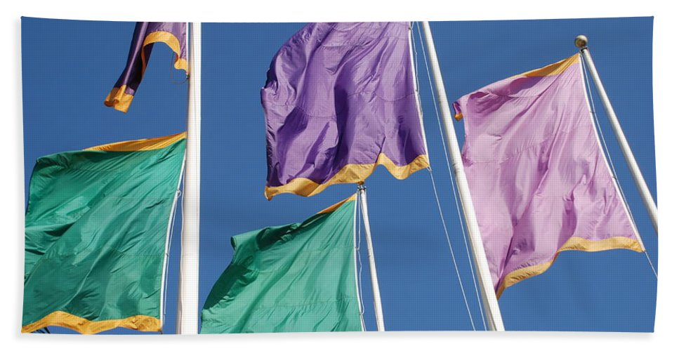 Flags Bath Towel featuring the photograph Flags by Rob Hans