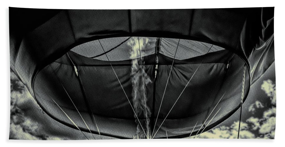 Flame Hand Towel featuring the photograph Flame On Hot Air Balloon by Bob Orsillo