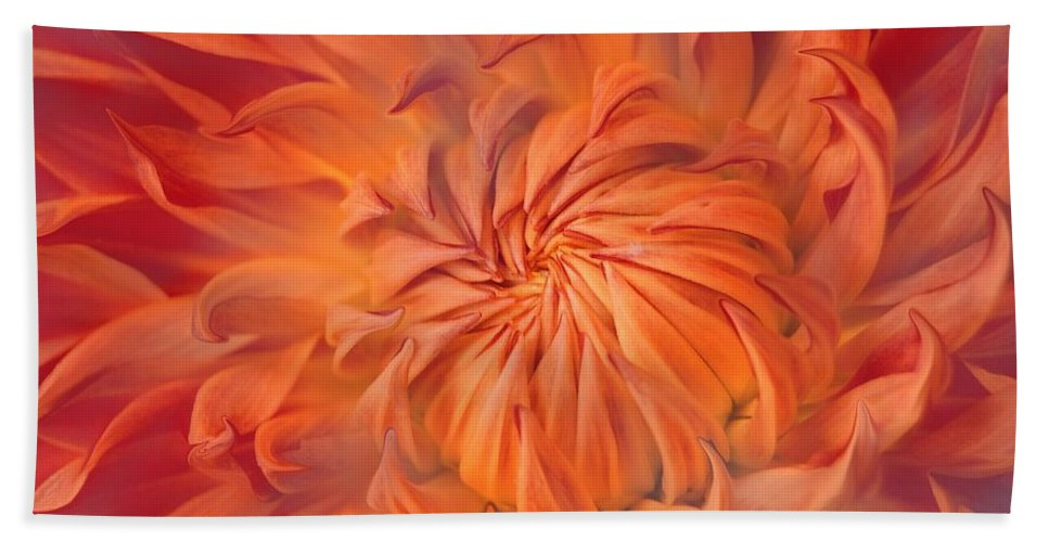 Flower Bath Towel featuring the photograph Flame by Jacky Gerritsen