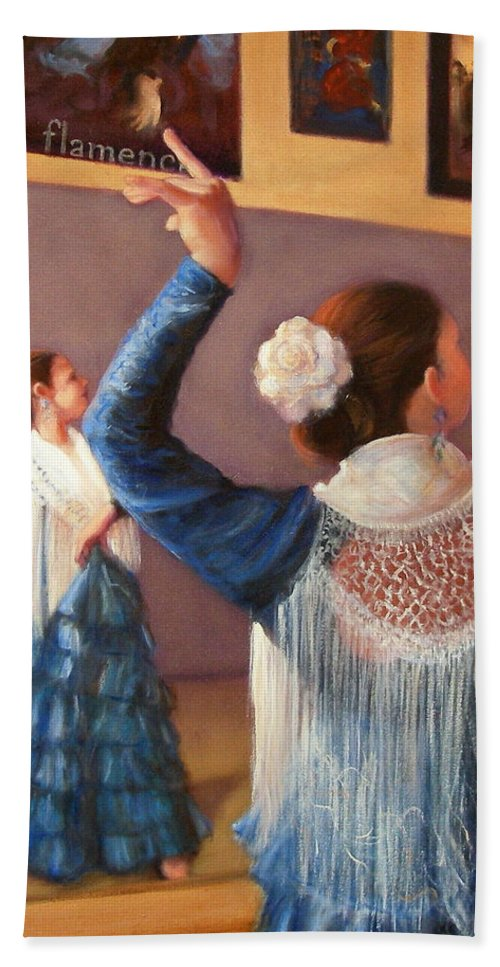 Realism Bath Sheet featuring the painting Flamenco 7 by Donelli DiMaria
