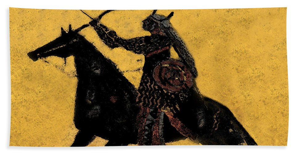 Flaming Arrow Hand Towel featuring the painting Flaming Arrow by David Lee Thompson