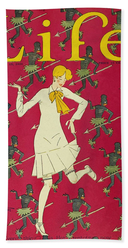 1926 Bath Sheet featuring the photograph Flapper Cover, 1926 by Granger
