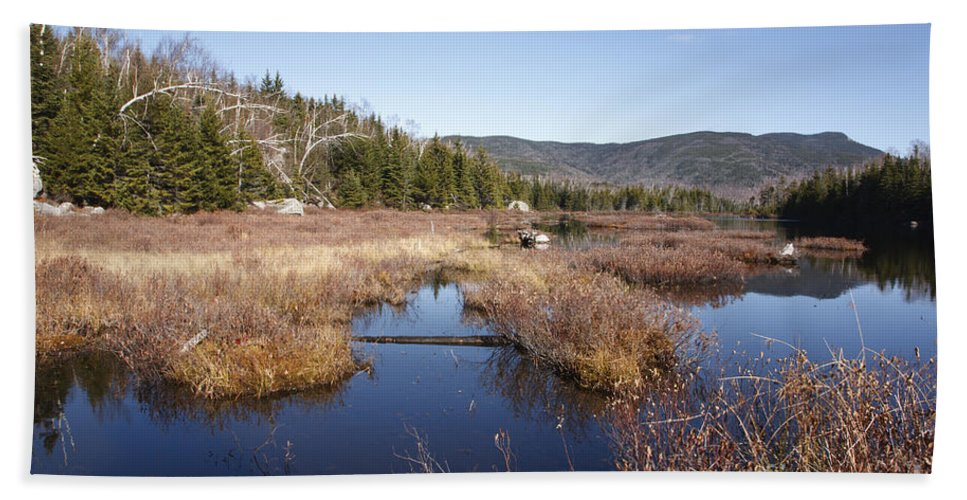 Pond Bath Sheet featuring the photograph Flat Mountain Ponds - Sandwich Wilderness White Mountains Nh by Erin Paul Donovan