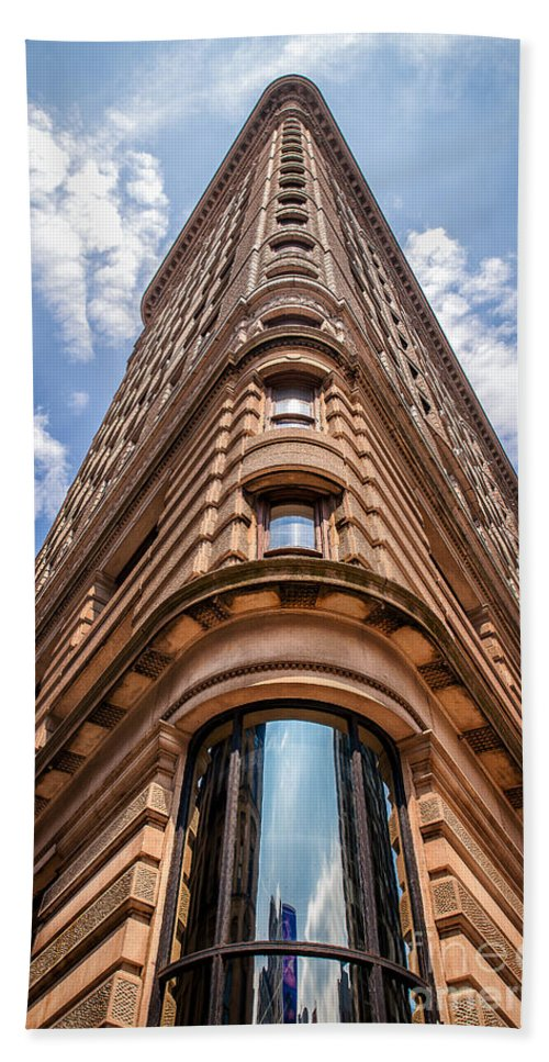 Flatiron Building Hand Towel featuring the photograph Flatiron Building Nyc Color by Alissa Beth Photography