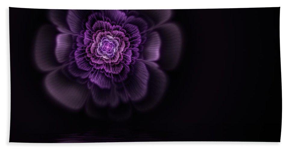Flame Fractal Bath Towel featuring the digital art Fleur by John Edwards