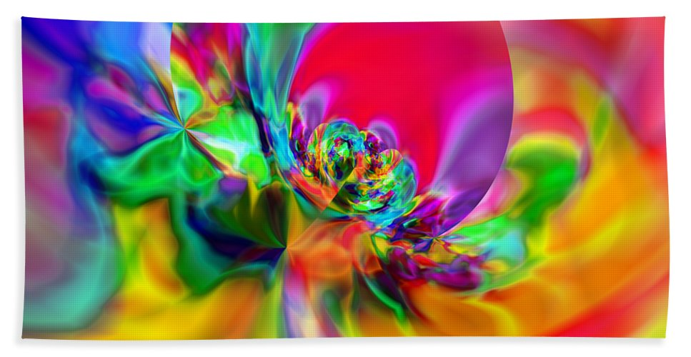 Zen Bath Towel featuring the digital art Flexibility 20ca by Rolf Bertram