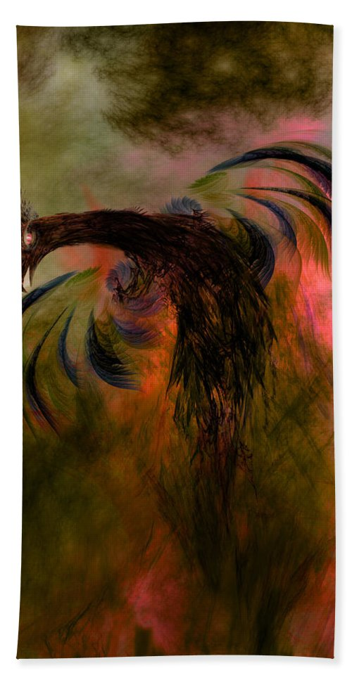 Ashes Hand Towel featuring the digital art Flight Of The Phoenix by Carol and Mike Werner