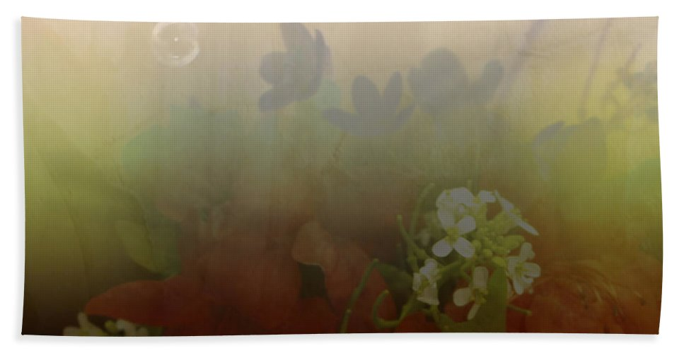 Bubble Hand Towel featuring the photograph Floating Bubble by Scott Wyatt
