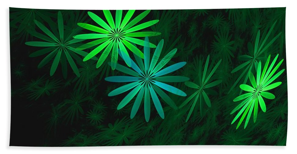 Digital Photography Hand Towel featuring the digital art Floating Floral-007 by David Lane