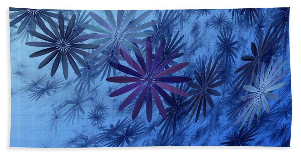 Digital Photography Hand Towel featuring the digital art Floating Floral-010 by David Lane