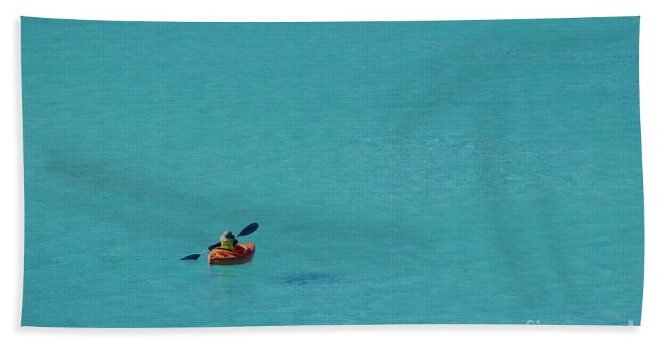 Sea Hand Towel featuring the photograph Floating Swimming Or Flying by Clay Cofer