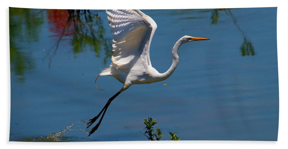 Hand Towel featuring the photograph Floating by Tony Umana