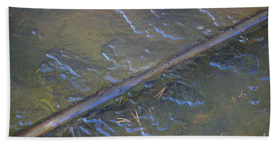 Nature Hand Towel featuring the photograph Flooded Rails by Nature and Life MJG