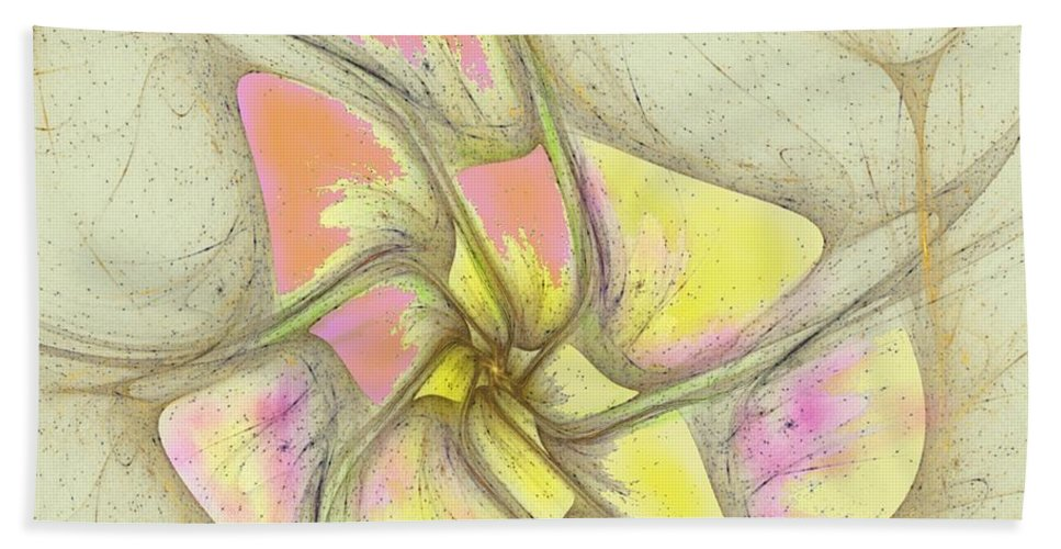 Bath Sheet featuring the digital art Floral 2-19-10-a by David Lane
