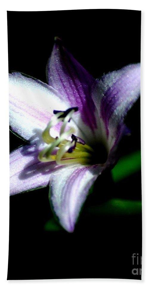 Digital Photograph Bath Towel featuring the photograph Floral 7-24-09 by David Lane
