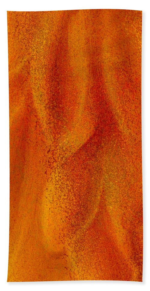 Abstract Background Hand Towel featuring the digital art Floral Abstract by George Robinson