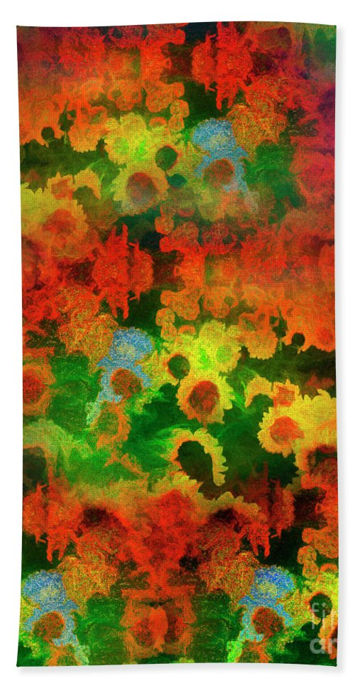 Ag004914 Hand Towel featuring the digital art Floral Abundance by Edmund Nagele