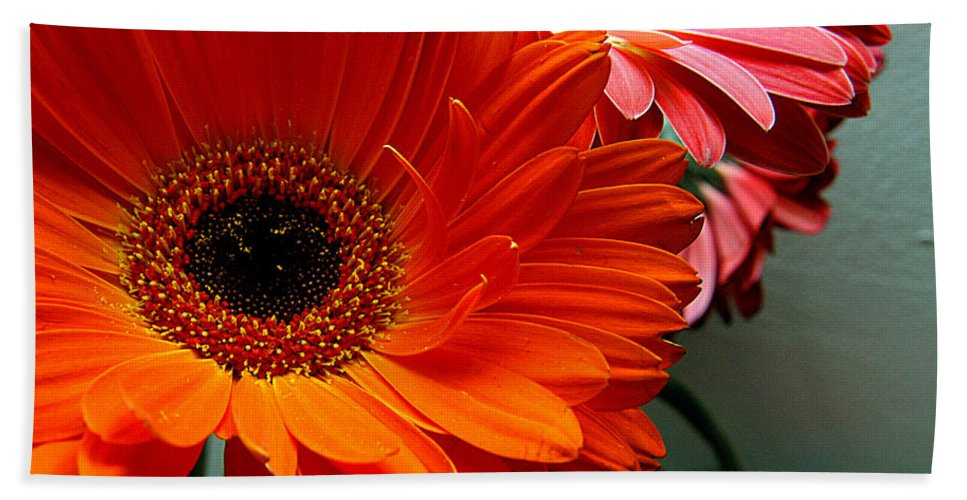 Clay Bath Towel featuring the photograph Floral Art by Clayton Bruster