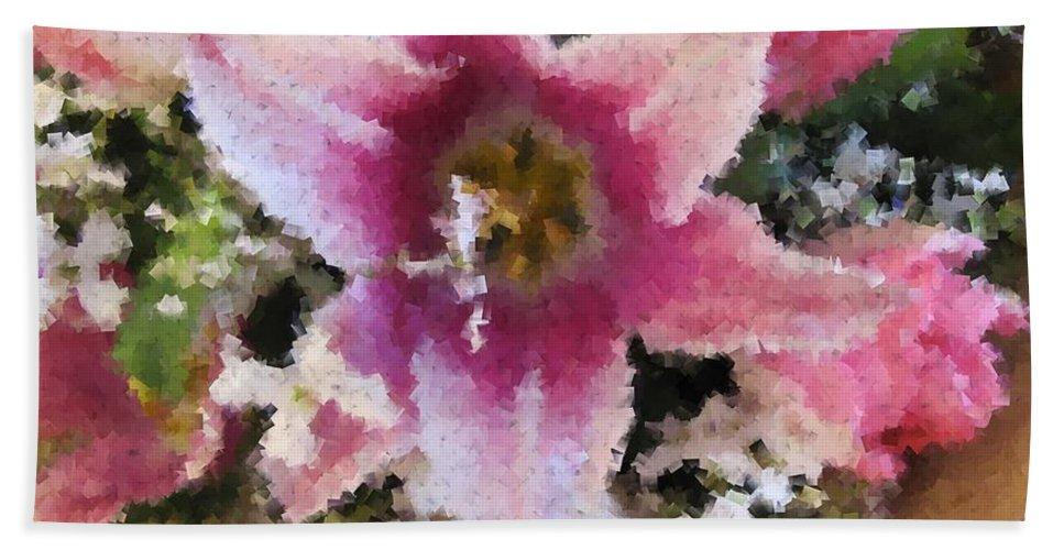 Flower Hand Towel featuring the digital art Floral Beauty by Tim Allen