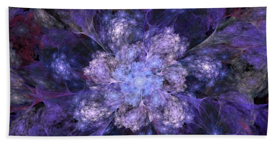 Digital Painting Hand Towel featuring the digital art Floral Fantasy 1 by David Lane