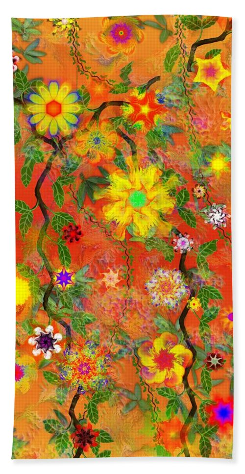 Floral Hand Towel featuring the digital art Floral Fantasy 122110 by David Lane