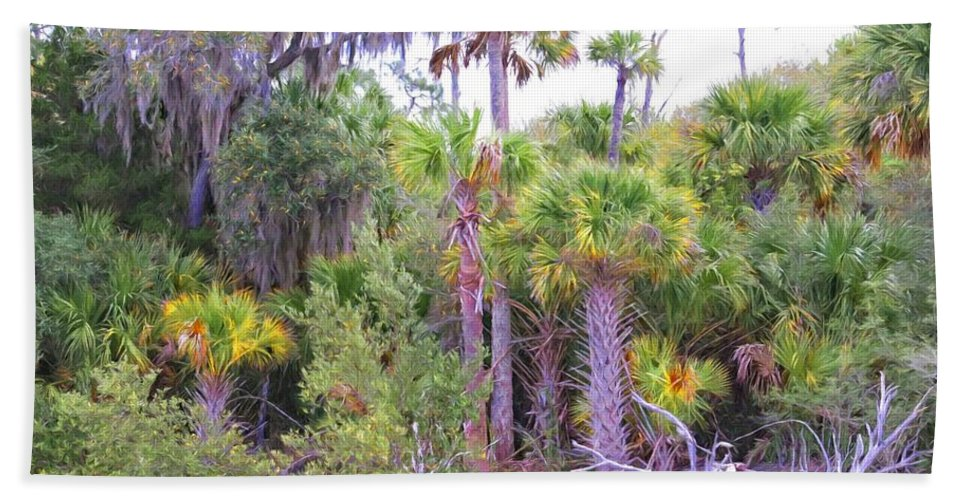 Alicegipsonphotographs Hand Towel featuring the photograph Florida Greens by Alice Gipson