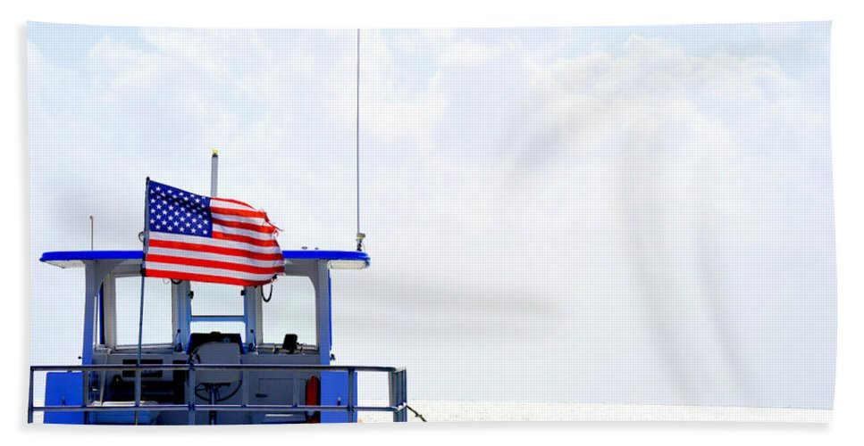 Florida Hand Towel featuring the photograph Florida Keys Patriot by Amy Nichter