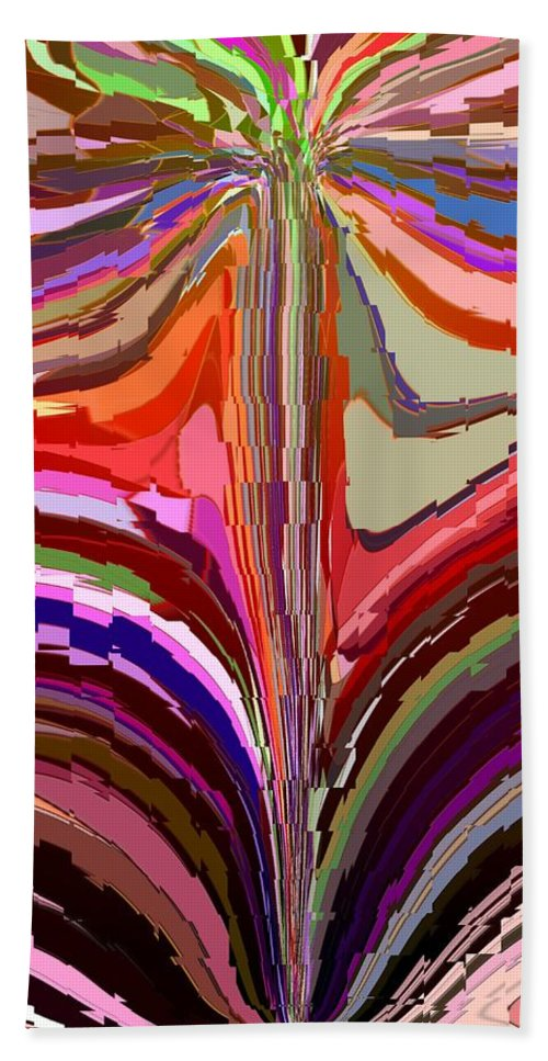 Abstract Hand Towel featuring the digital art Flourish Again by Tim Allen