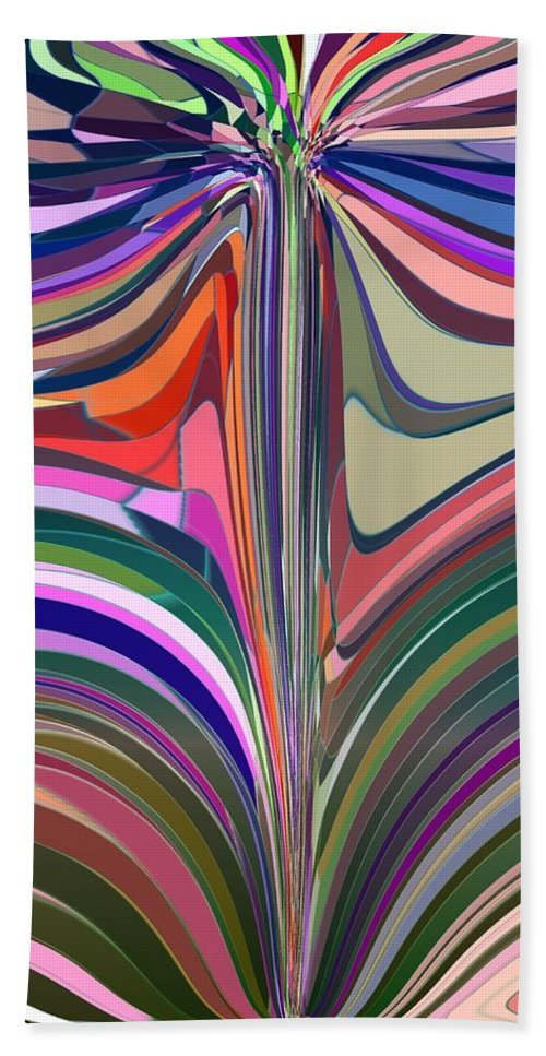 Abstract Hand Towel featuring the digital art Flourish by Tim Allen