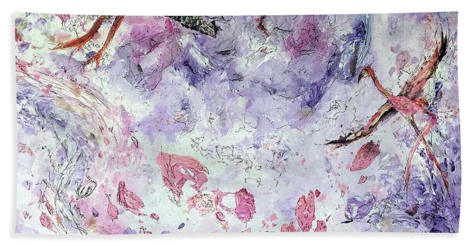 Acrylic Bath Sheet featuring the painting Flow by Alex T