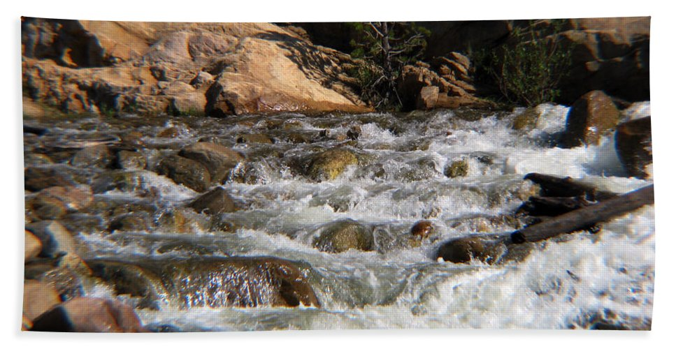 River Bath Sheet featuring the photograph Flow by Amanda Barcon