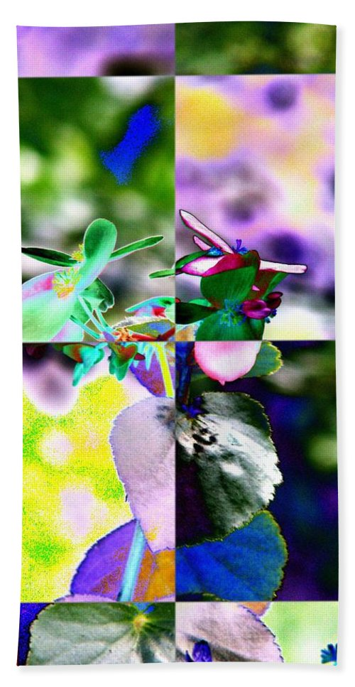 Flower Hand Towel featuring the digital art Flower 2 by Tim Allen