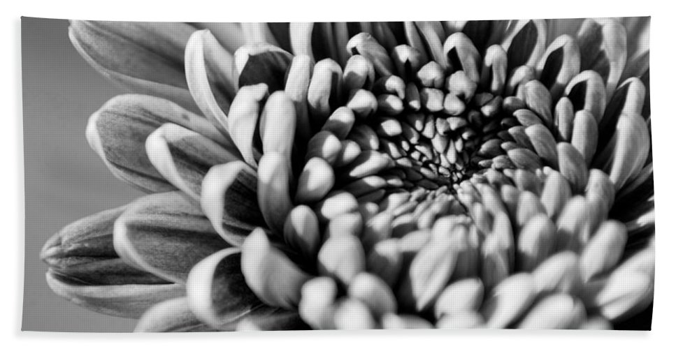 Black And White Bath Sheet featuring the photograph Flower Black And White by Jill Reger
