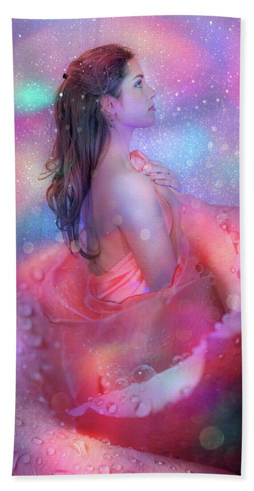 Fairy Bath Sheet featuring the photograph Flower Fairy by Lilia D