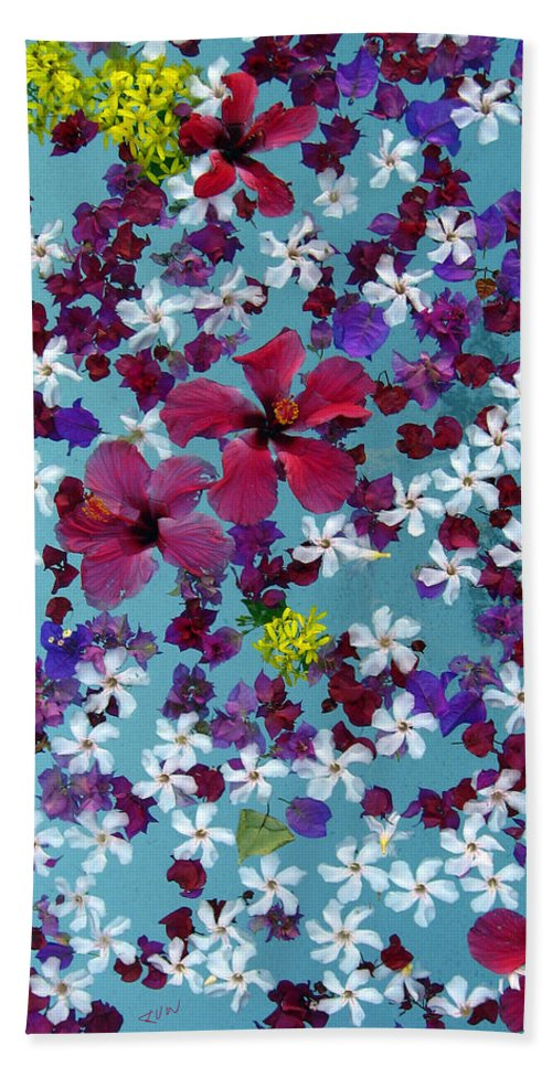 Flowers Hand Towel featuring the photograph Flower Fantasy Guatemala by Kurt Van Wagner