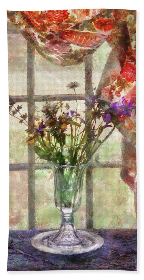 Spring Bath Sheet featuring the photograph Flower - Flower - A Vase Of Flowers by Mike Savad