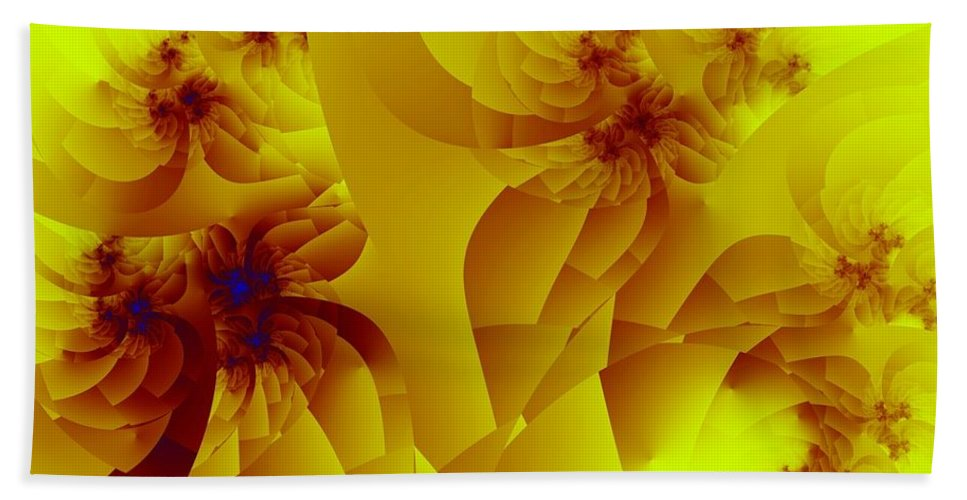 Fractal Art Bath Towel featuring the digital art Flower Formations by Ron Bissett