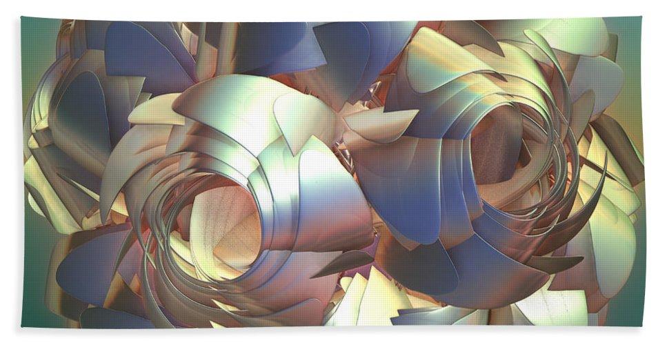 Digital Bath Towel featuring the digital art Flower Globe by Deborah Benoit